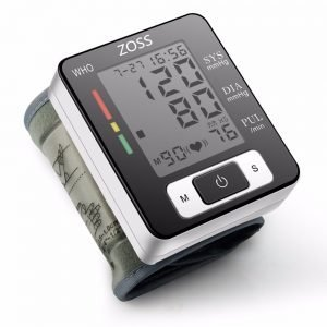 ZOSS  Cuff Wrist Sphygmomanometer Blood Presure Meter Monitor Heart Rate Pulse Portable Tonometer BP 5